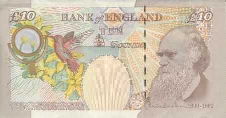 Charles Darwin on £10