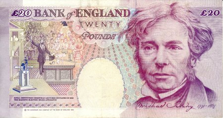 Michael Faraday on £20