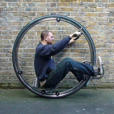 Monocycle in use
