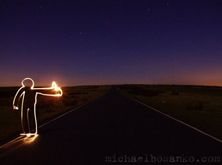 Light Grafitti by Michael Bosanko