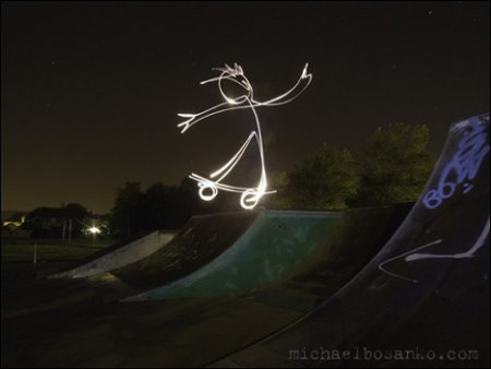 Light Grafitti by Michael Bosanko