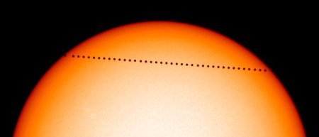 Mercury transits the Sun