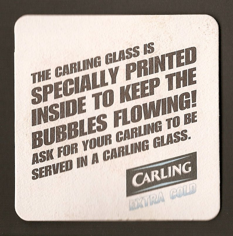 carling-beer-mat