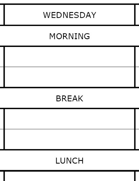 revision timetable templates