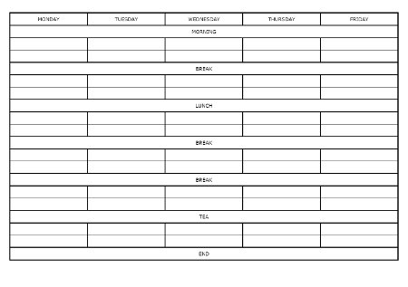revision timetable template a level