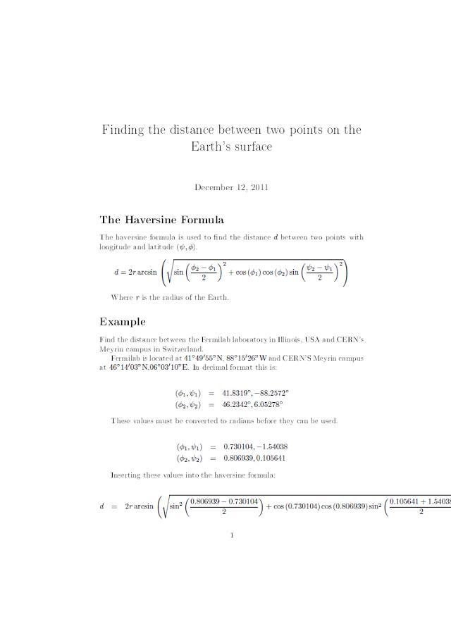 Haversine formula | MrReid org